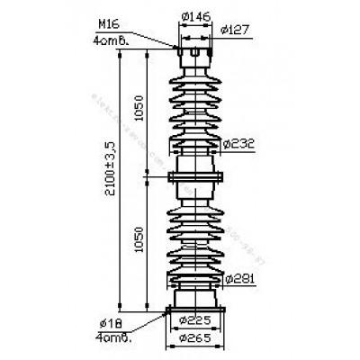 Изолятор С6-950-II-М УХЛ1