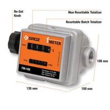 Механический расходомер для учета бензина, дизтоплива, легких масел - FM-100 (GROZ)